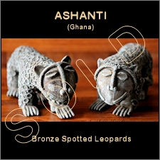 Ashanti Bronze Spotted Leopards