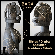 Baga Nimba/D'mba Shoulder Mask/Headdress