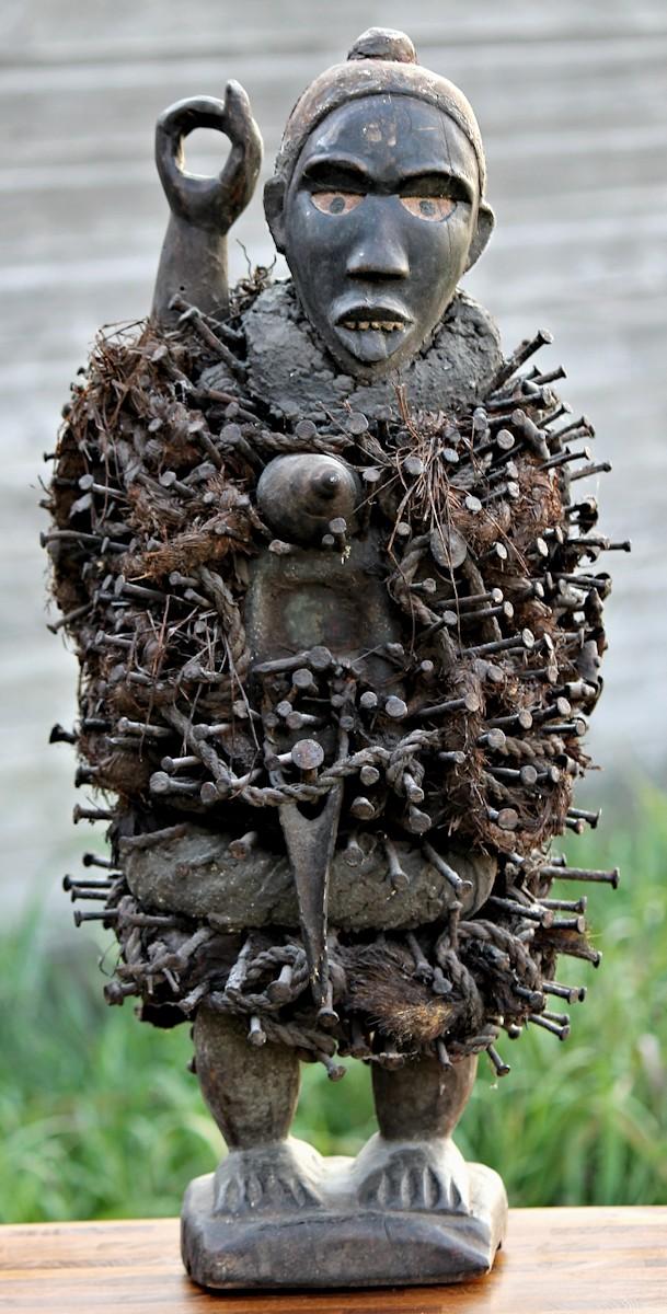 Phenomenal Bakongo Kongo Nkondi Nail Fetish Figure Statue