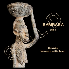 Bambara Bronze Woman with Bowl