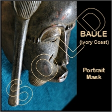 Baule Portrait Mask