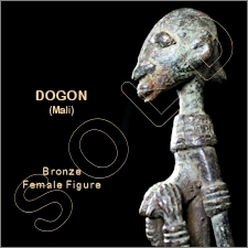 Dogon Bronze Female Sculpture/Figure