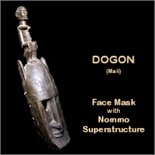 Dogon Mask with Nommo Superstructure