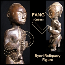 Fang Infant/Child Byeri Reliquary Figure
