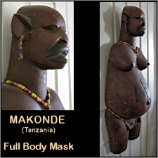 Makonde Full Pregnant Body Mask